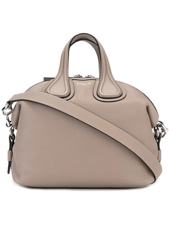 women leather grey bag