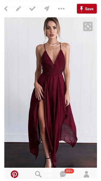 dress red formal red dress flowing dress flowing maxi dress wedding clothes date outfit date dress engagement party dress