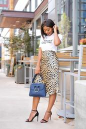jadore-fashion,blogger,skirt,t-shirt,shoes,bag,make-up,leopard skirt,leopard print,high heel sandals,spring outfits