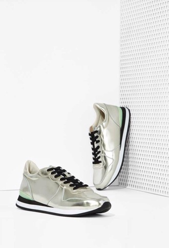 shoes shiny silver metallic edgy jeffrey campbell