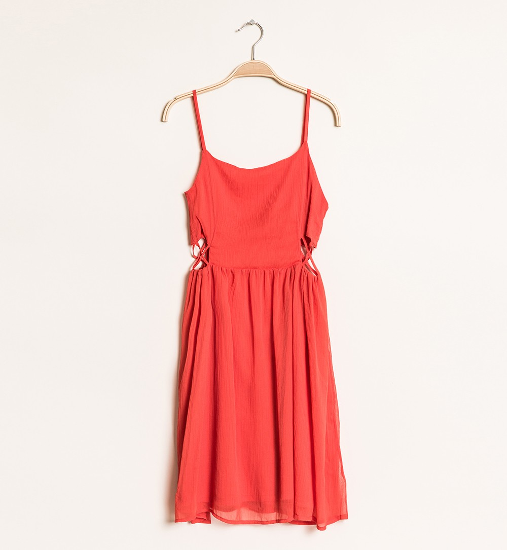 robe jeu de découpes corail - robes Jennyfer