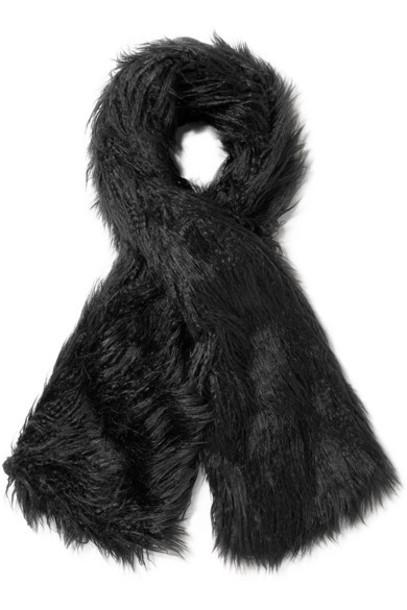 Emma Brewin - Faux Fur Scarf - Black