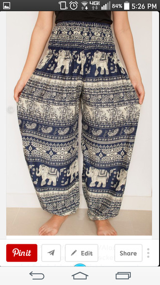 elephant gypsy puffy pants