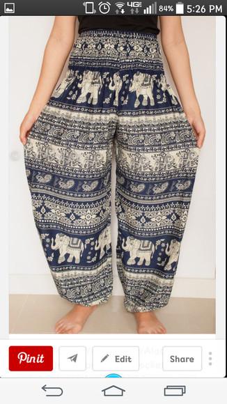 elephant gypsy puffy pants