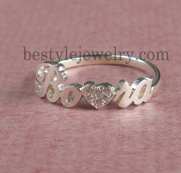 jewels name ring diamond name ring ring jewelry gift ideas