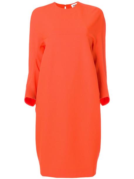 dress oversized women yellow orange