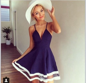 dress blue beautiful short white dark girl woman girly tumblr instagram anazing dark blue blue dress cocktail dress
