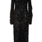 Black embroidered bias ruffle dress | moda operandi