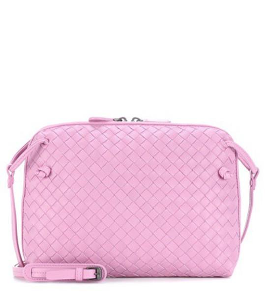 Bottega Veneta bag crossbody bag leather pink