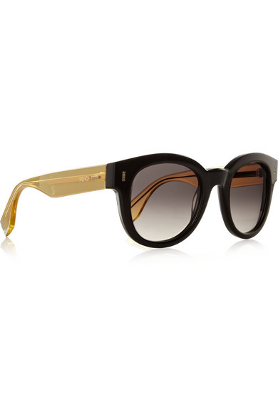 Fendi | Two-tone D-frame acetate sunglasses | NET-A-PORTER.COM