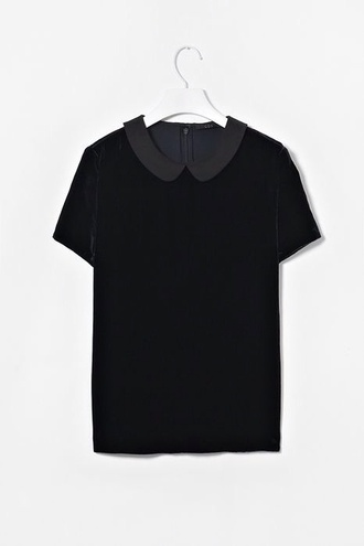 blouse grey collar peter pan collar hipster soft grunge pinterest