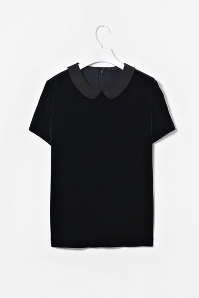 peter pan collar collar blouse grey hipster soft grunge pinterest