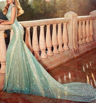 dress blue dress glitter dress beautiful elegant dress