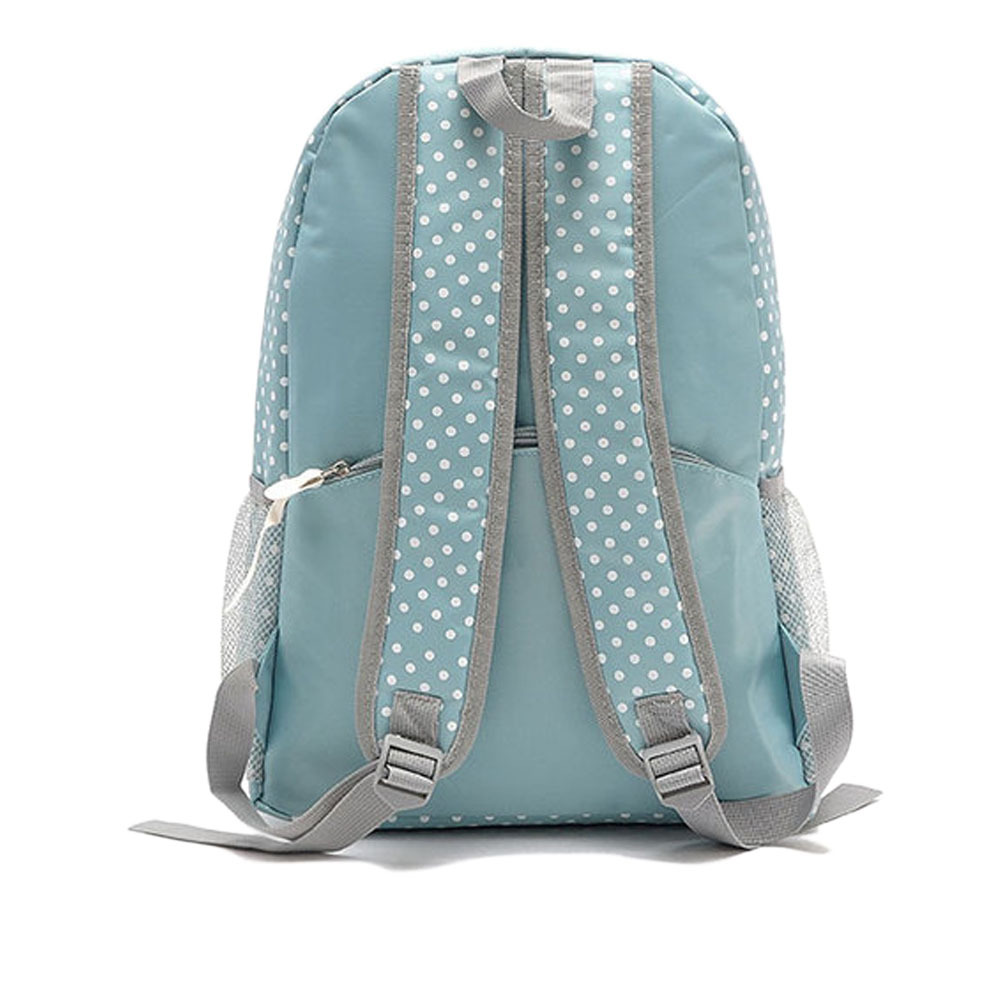 [grxjy5204214]Fashion Polka Dots Canvas Backpack School Bag