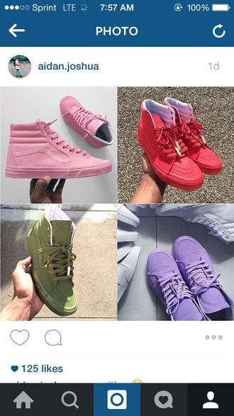 shoes vans vans of the wall