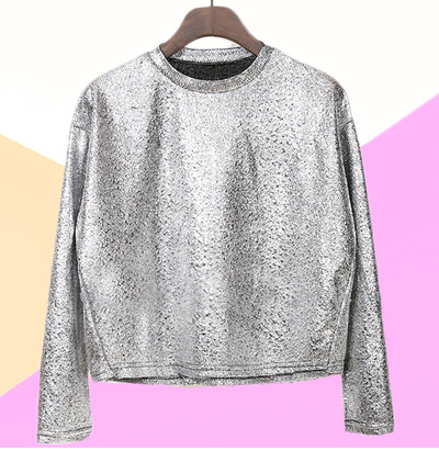 Silver galaxy metallic top blouse · mola_mola · online store powered by storenvy
