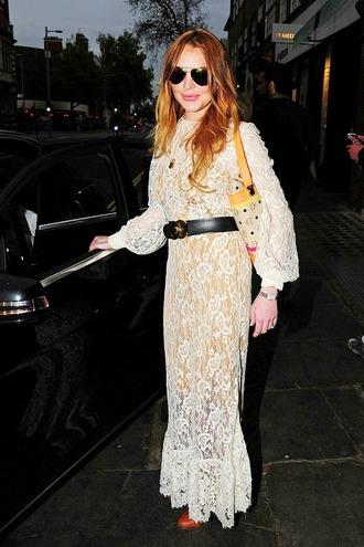 dress lace maxi dress lace dress white lace dress lindsay lohan
