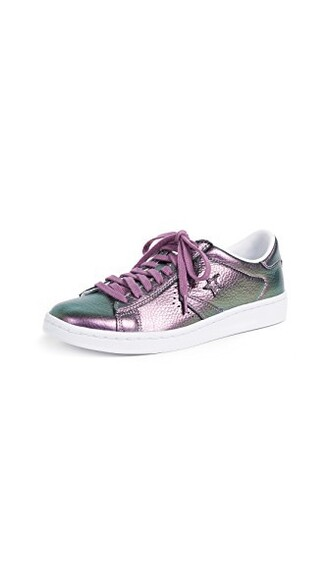 iridescent sneakers leather fantasy white shoes