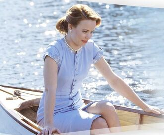 dress blue dress rachel mc adams the notebook vintage light blue