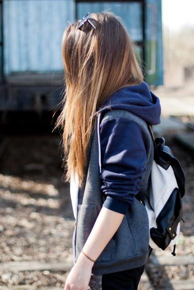 sweater hoodie sunglasses backpack bag hairstyles