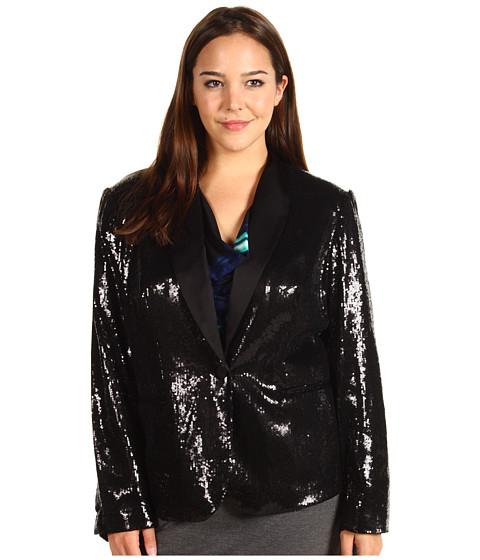 bc85d537f59 Calvin Klein Plus Size Sequin Jacket Black - Zappos.com Free ...