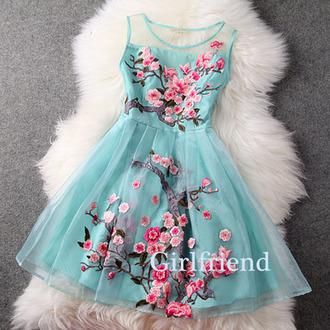 prom dress pink blue chiffon gorgeous