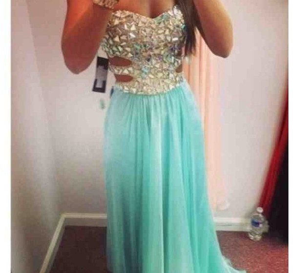 dress prom blue for me sparkle summer love