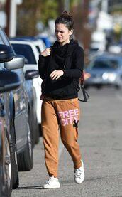 pants,sweatpants,rachel bilson,hoodie