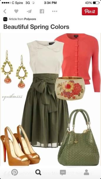 blouse skirt dress cocktail dress red