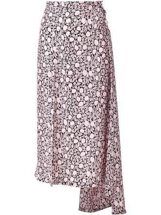 skirt floral print purple pink