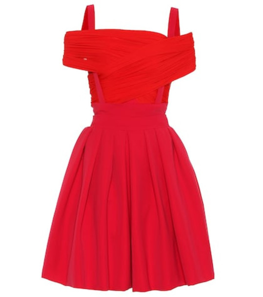 Preen by Thornton Bregazzi Cilla stretch-satin dress in red