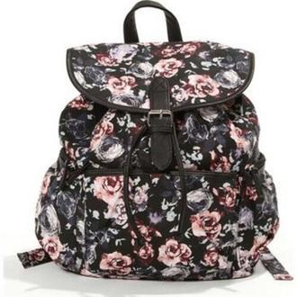bag backpack canvas flowers floralbackpack