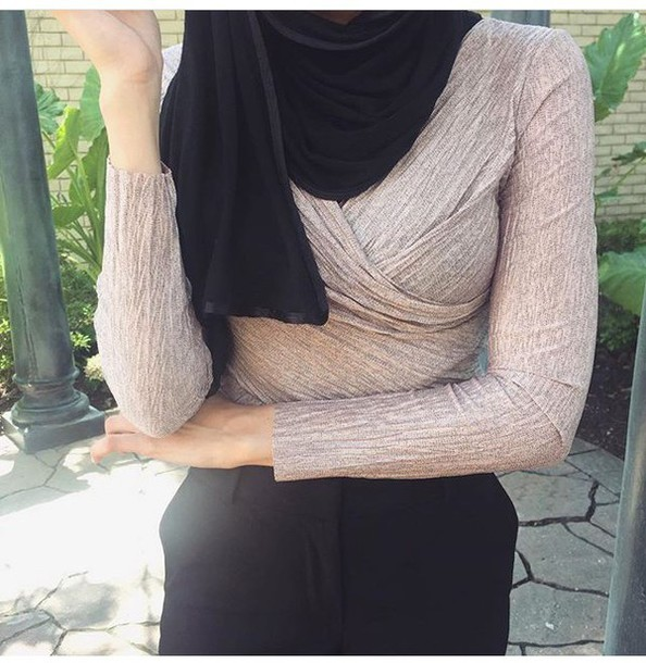 top long sleeves grey grey top