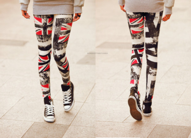 pants clothes jeans red white and blue union jack leggings red lime sunday amazing