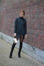 from brussels with love,blogger,sweater,skirt,shoes,bag,jewels,winter outfits,wool sweater,ankle boots
