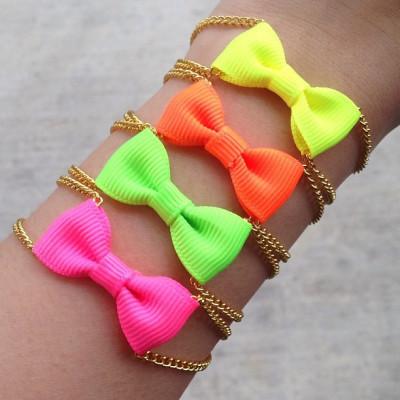 Neon Mini Bow Bracelet - oBaz