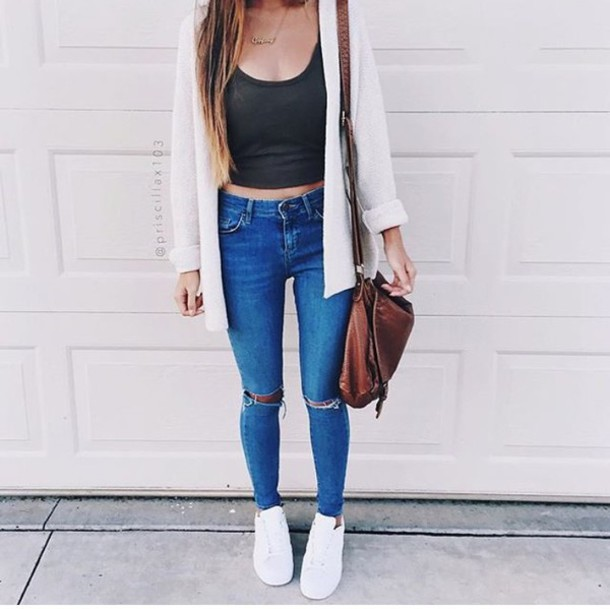 Jeans Hipster Style Girl Cool Wheretoget