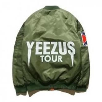 jacket bomber jacket green jacket yeezus