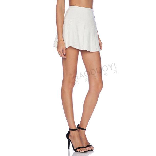 Skirt white skirt midi skirt short skirt high waist skirt simple skirt white short ...