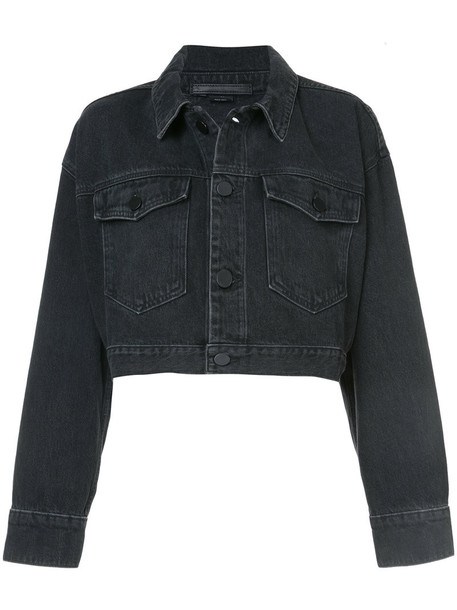 jacket cropped jacket cropped women cotton black