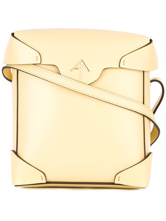 mini women bag crossbody bag leather yellow orange