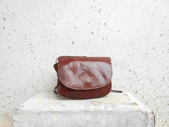 Vintage LANDMARK Brown Leather Crossbody Bag / by VindicoShop