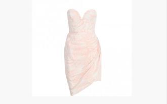 strapless short dress bustier dress draped pastel