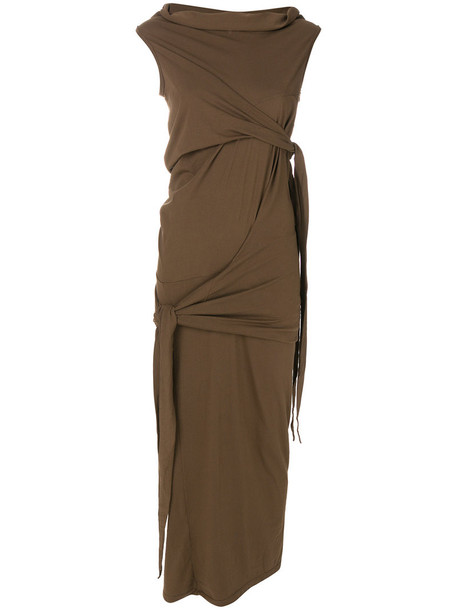 Rick Owens DRKSHDW dress women cotton brown