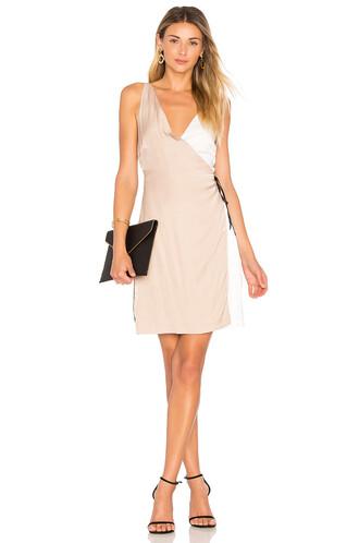 dress wrap dress beige