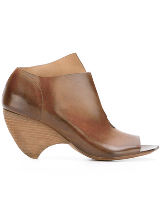 wood women sandals leather brown shoes