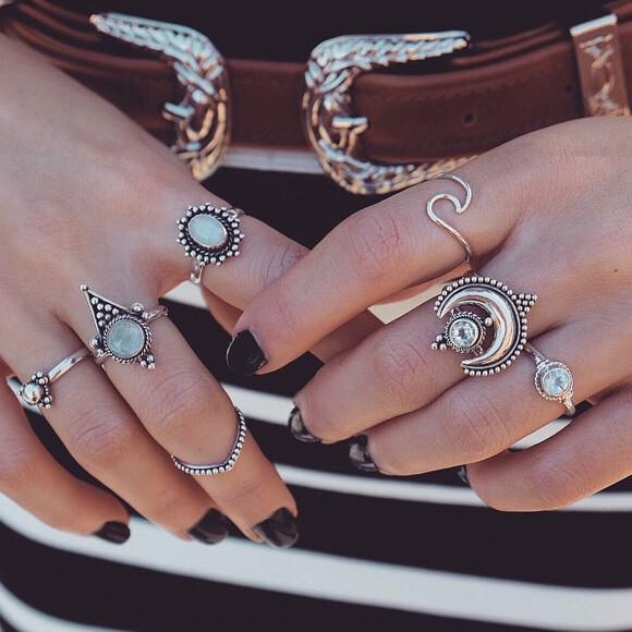 Shop Dixi Bohemian Sterling Silver Rings Uk Free Worldwide Shipping On Orders 50
