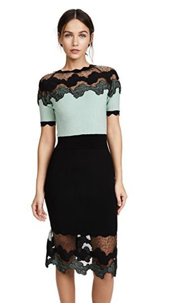 Yigal Azrouel dress short sleeve dress short shell lace