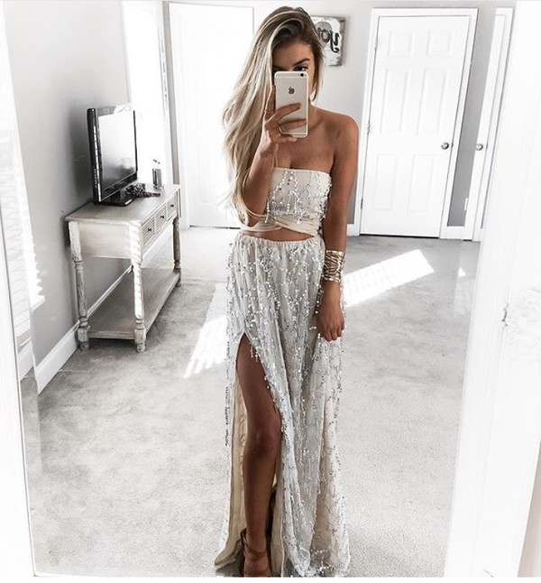 top two-piece skirt top combi co ord twin piece co ord set glitter dress white dress sequins
