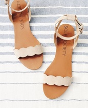 shoes,sole society,nude sandals,cute sandals,flat sandals,ankle strap